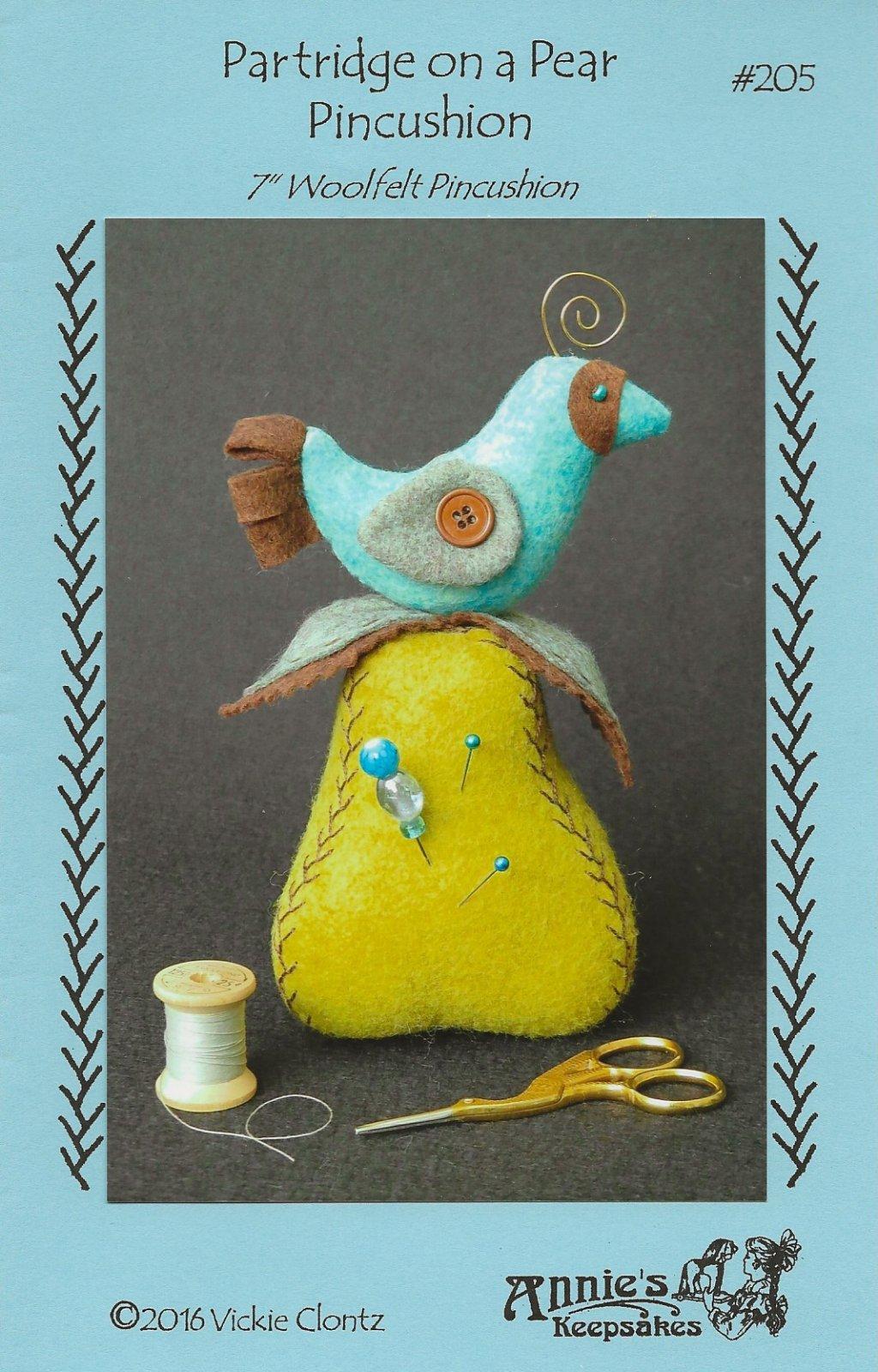 Partridge on a Pear Pincushion