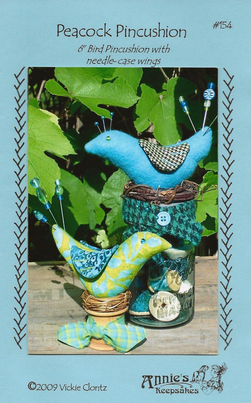 Peacock Pincushion