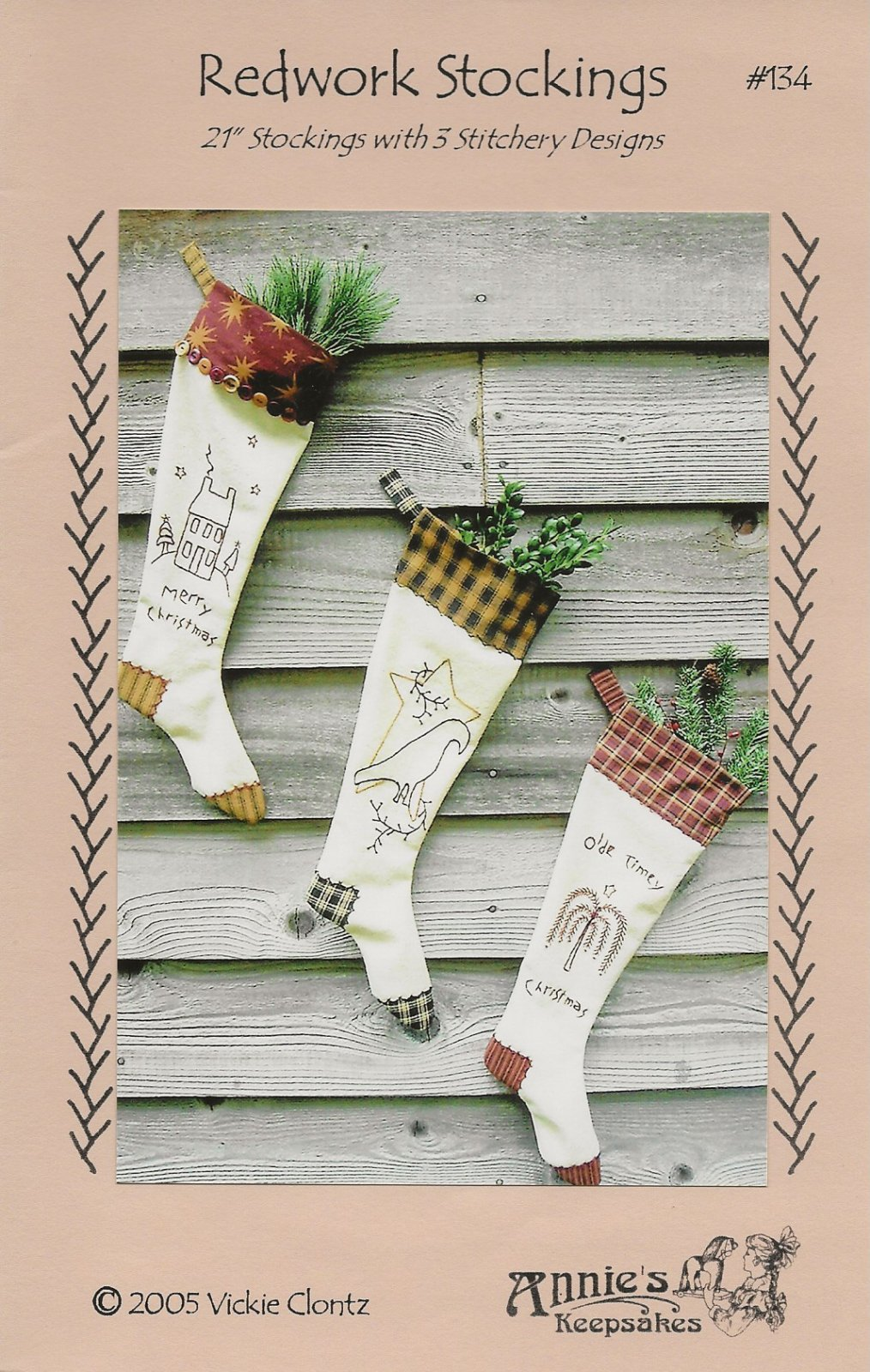 Redwork Stockings