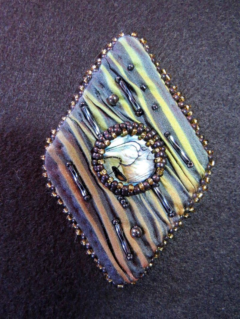 Gray Silk Shibori Pin