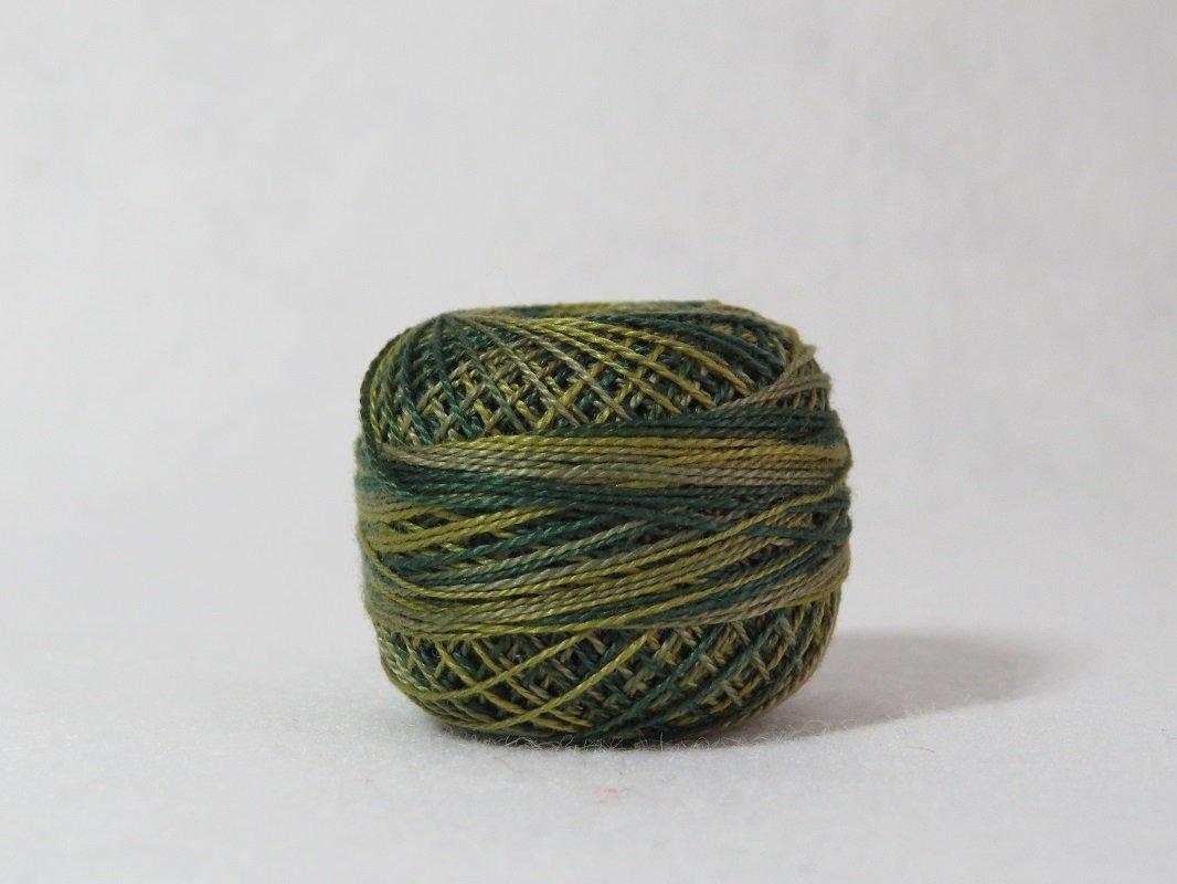 Valdani Perle Cotton Olives size 12