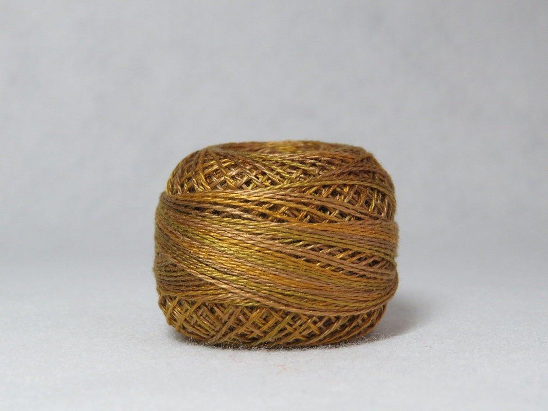 Valdani Perle Cotton Tarnished Gold size 12