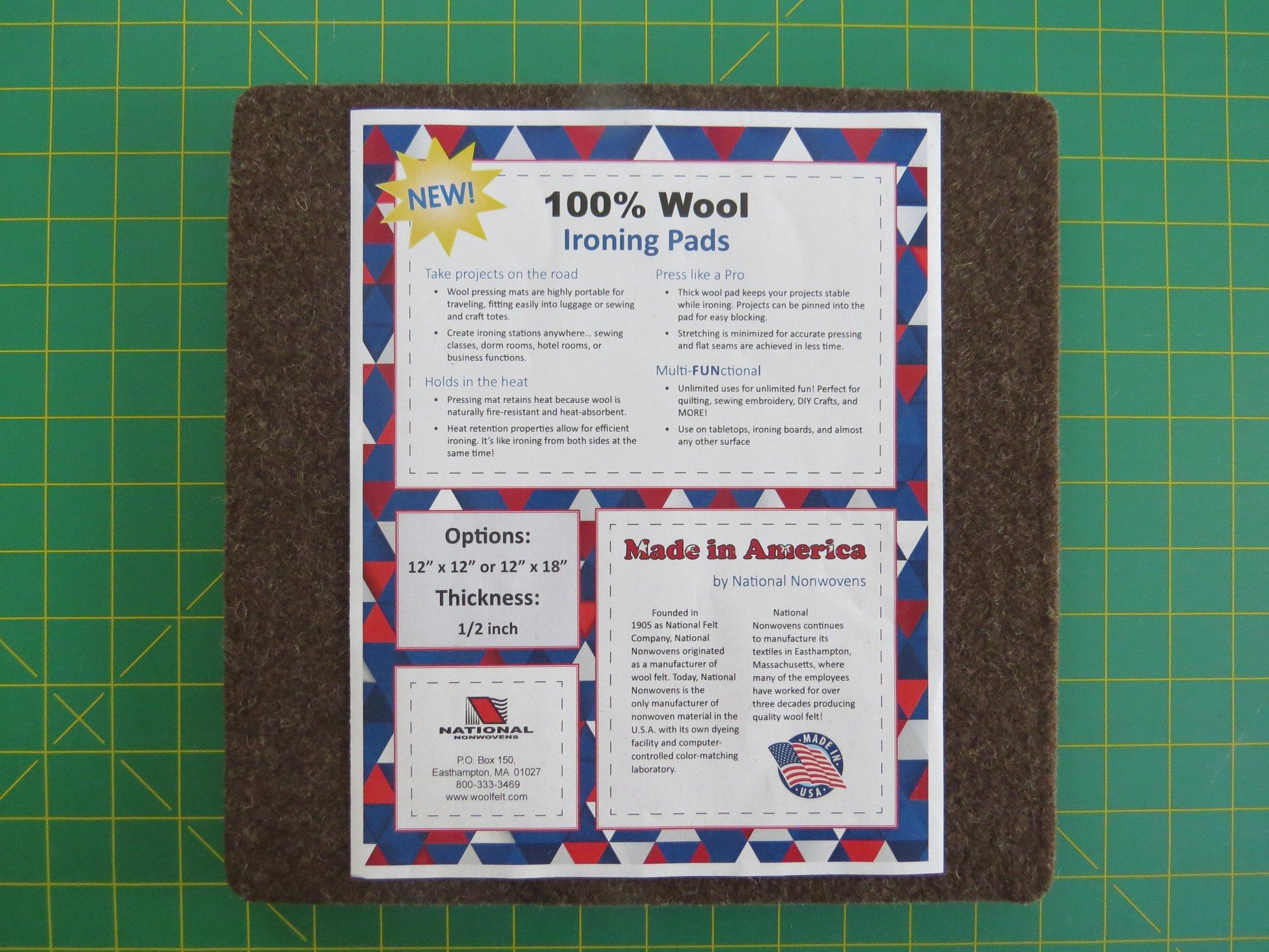 100% Wool Ironing Pad 12 x 12