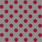 Fabric Finders Gray with Crimson Dot
