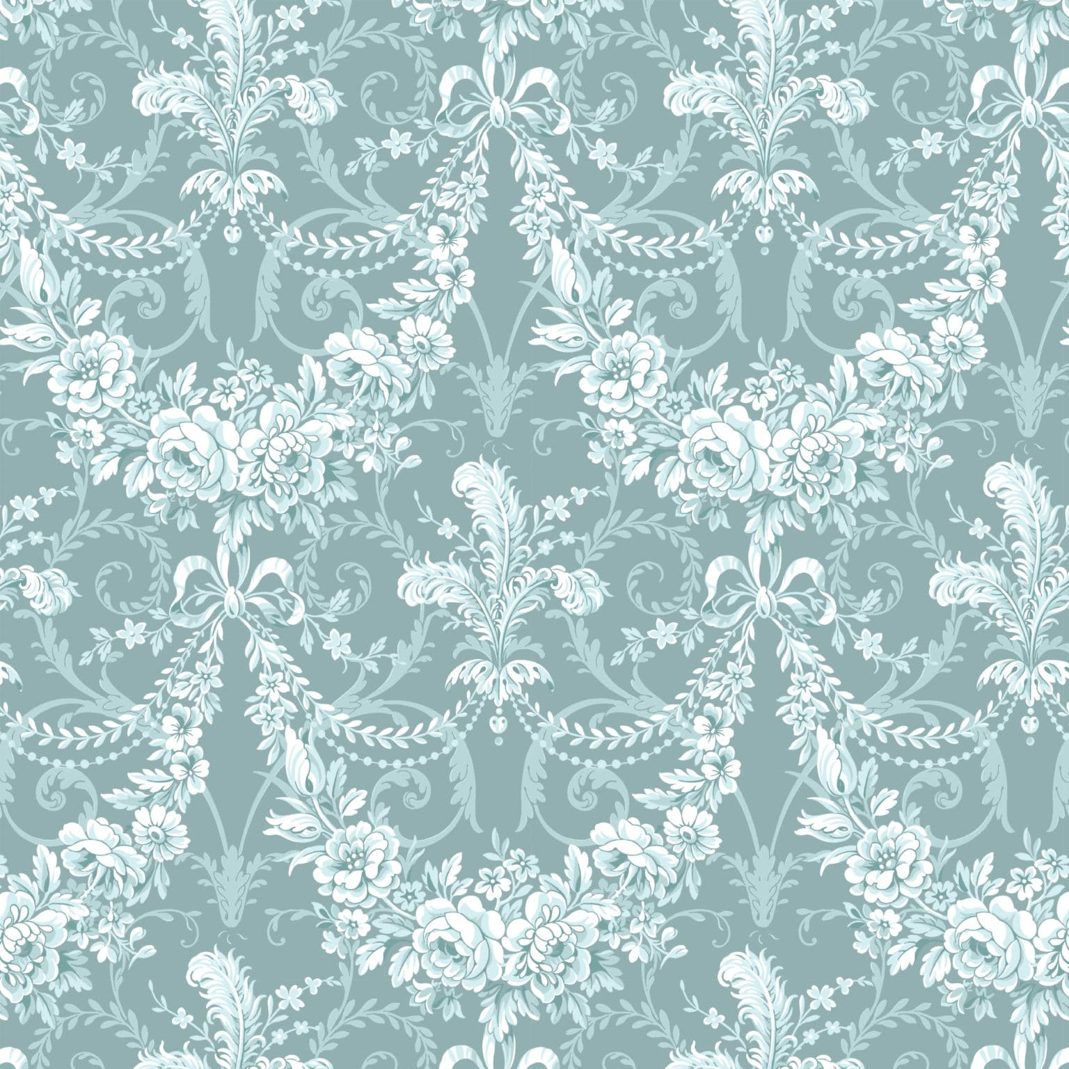 Anna Griffin Plume Floral Feather Blue