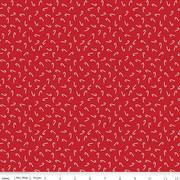 Riley Blake Santa Claus Lane Candy Canes Red