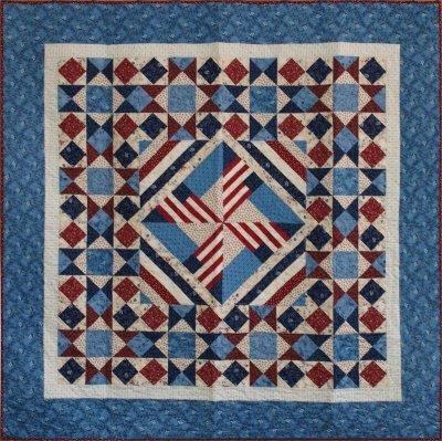 Quilt Woman Pinwheel Flags Quilt pattern