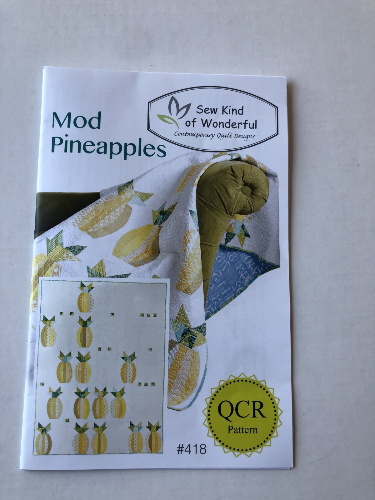 Sew Kind of Wonderful Mod Pineapples Quilt pattern