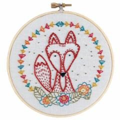 Embroidery Kit Crafty Fox