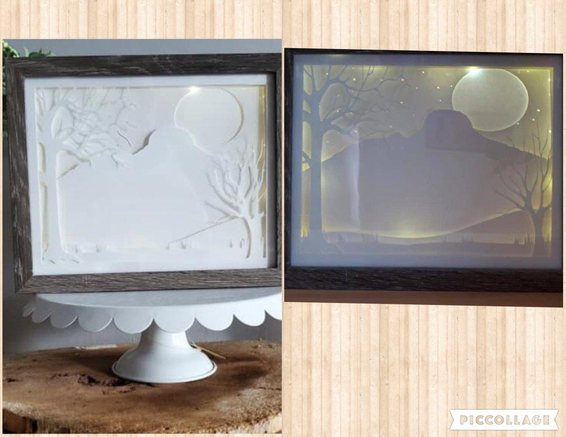 Shadow light box / Pilot Mountain 8x10