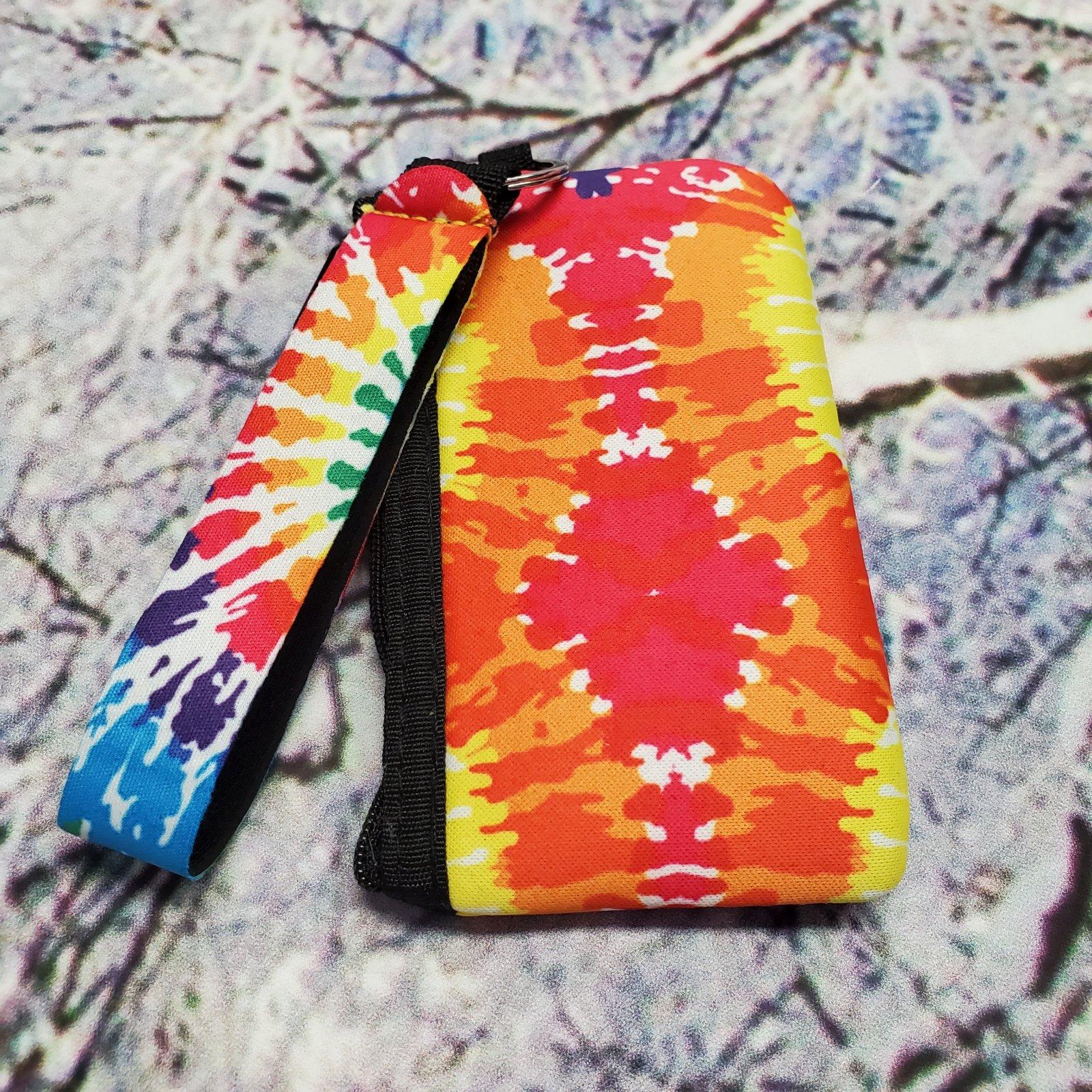 Tie Dye ID Wristlet