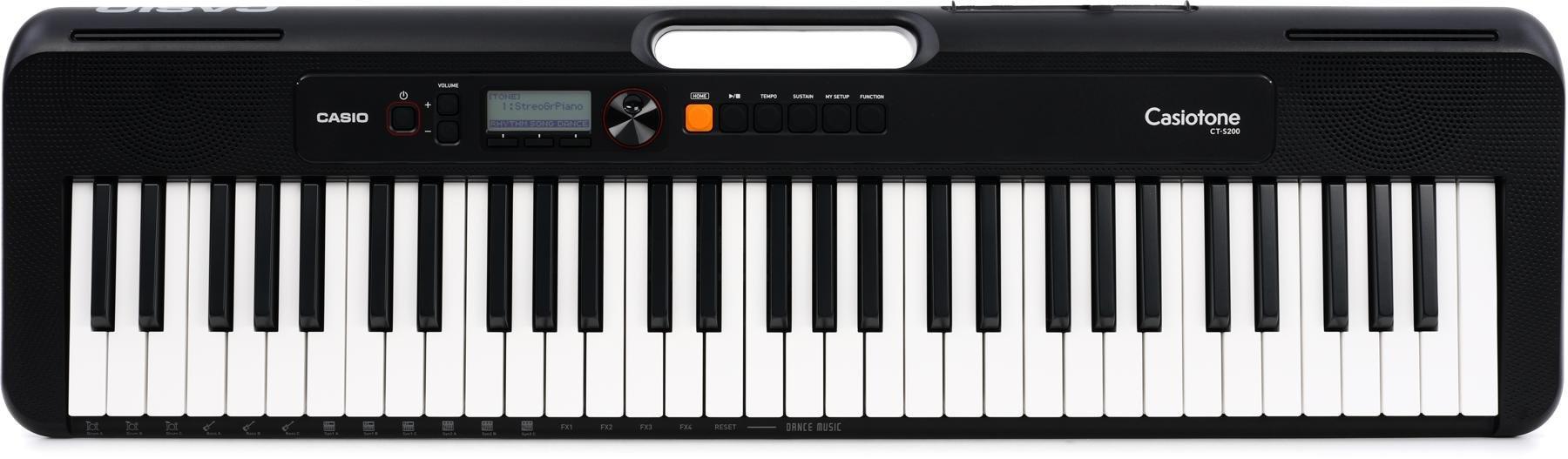 CasioTone CT-S200BK Digital Keyboard, Black