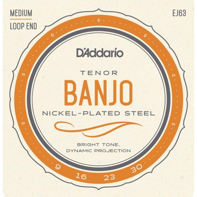 D'Addario Banjo Tenor Nickel, .009 - .030, EJ63