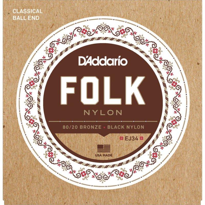D'Addario EJ34 80/20 bronze ball end classical strings