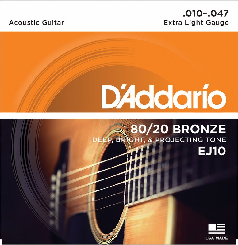 D'Addario 80/20 Bronze Extra Light 10-47 EJ10