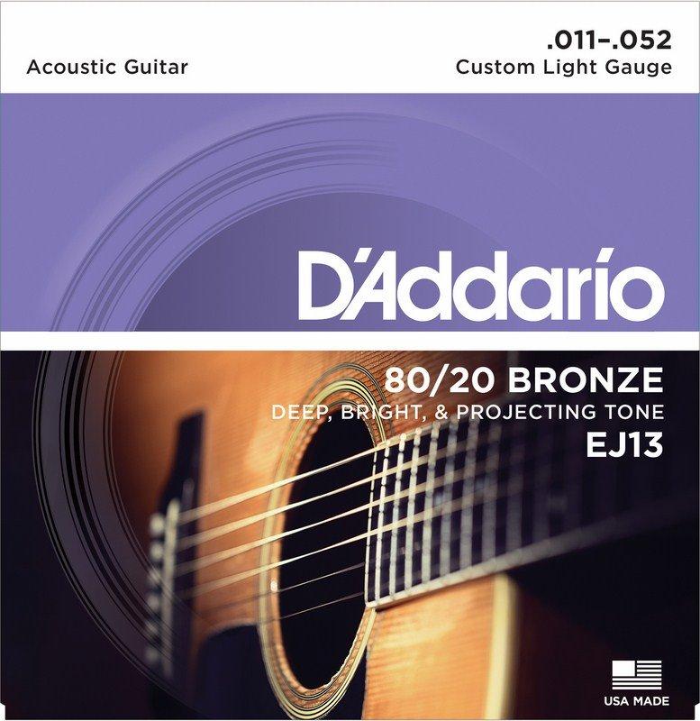 D'Addario 80/20 Bronze Custom Light 11-52 EJ13