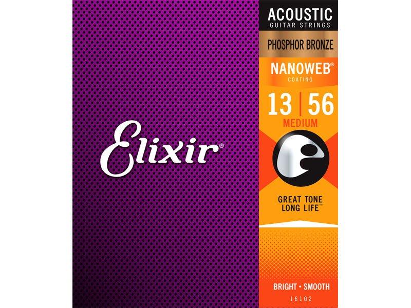 Elixir Acoustic Nano Phosphor Bronze Medium 13-56