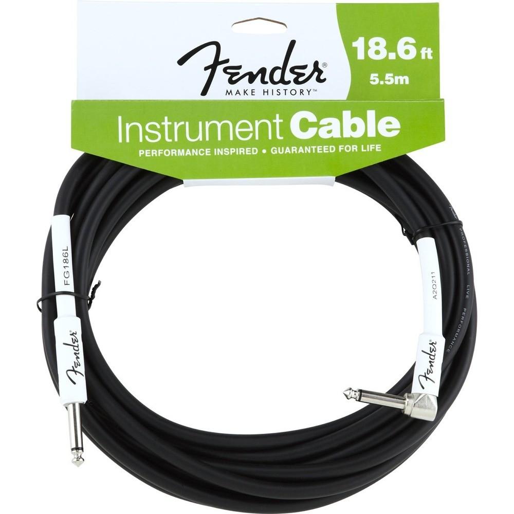 Fender FG186L 18.6 BLK RA inst cable