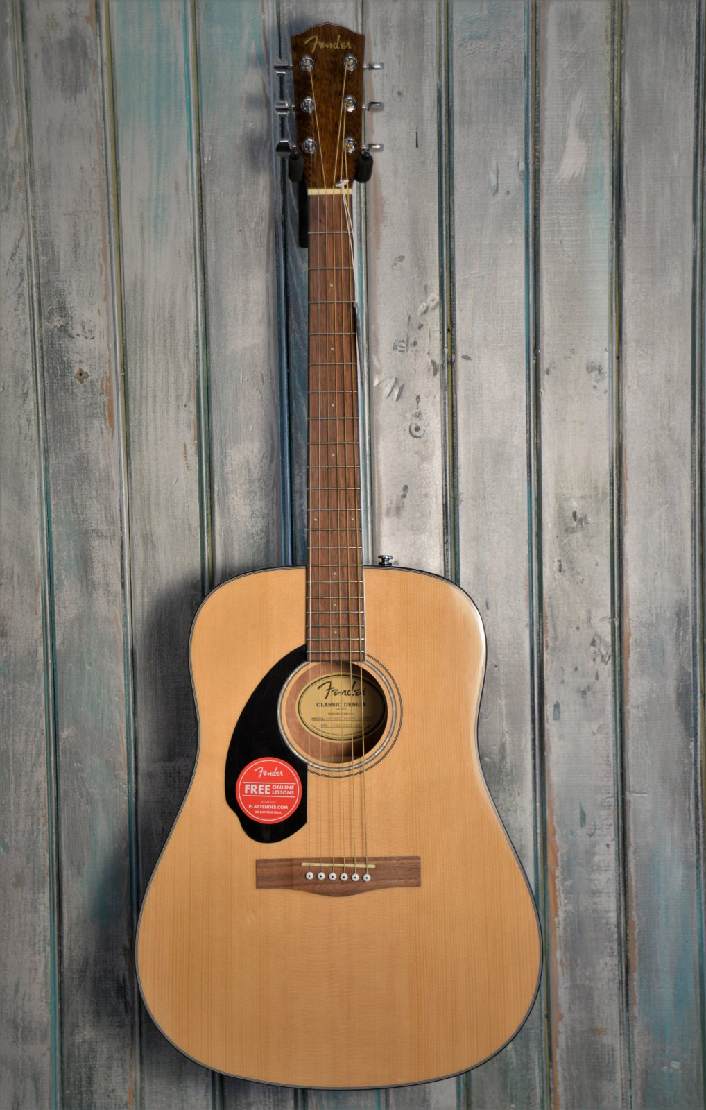 Fender CD-60S Left Handed Dreadnought, Walnut Fingerboard, Natural
