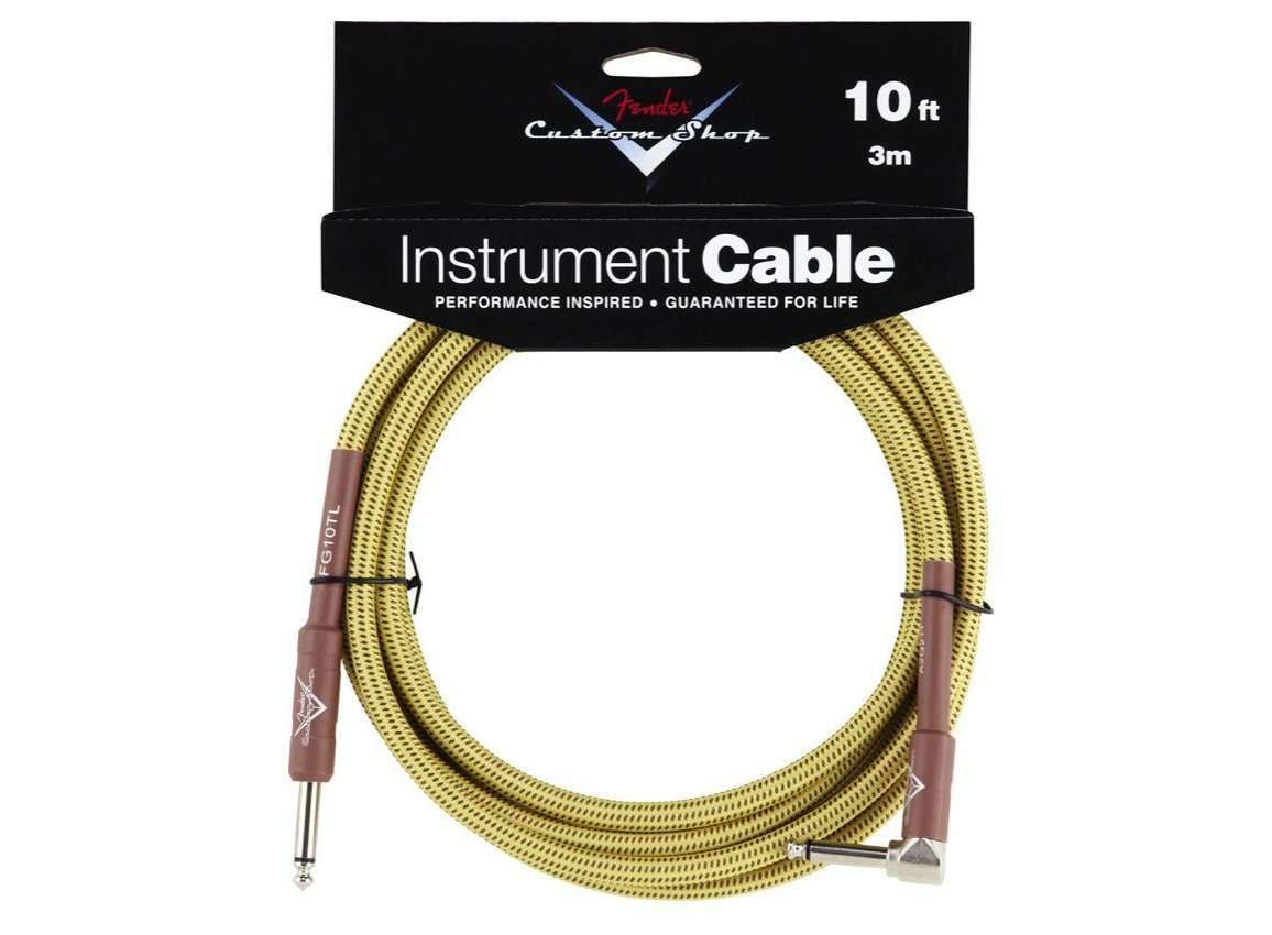 Fender 10' Tweed Instrument Cable with Right Angle