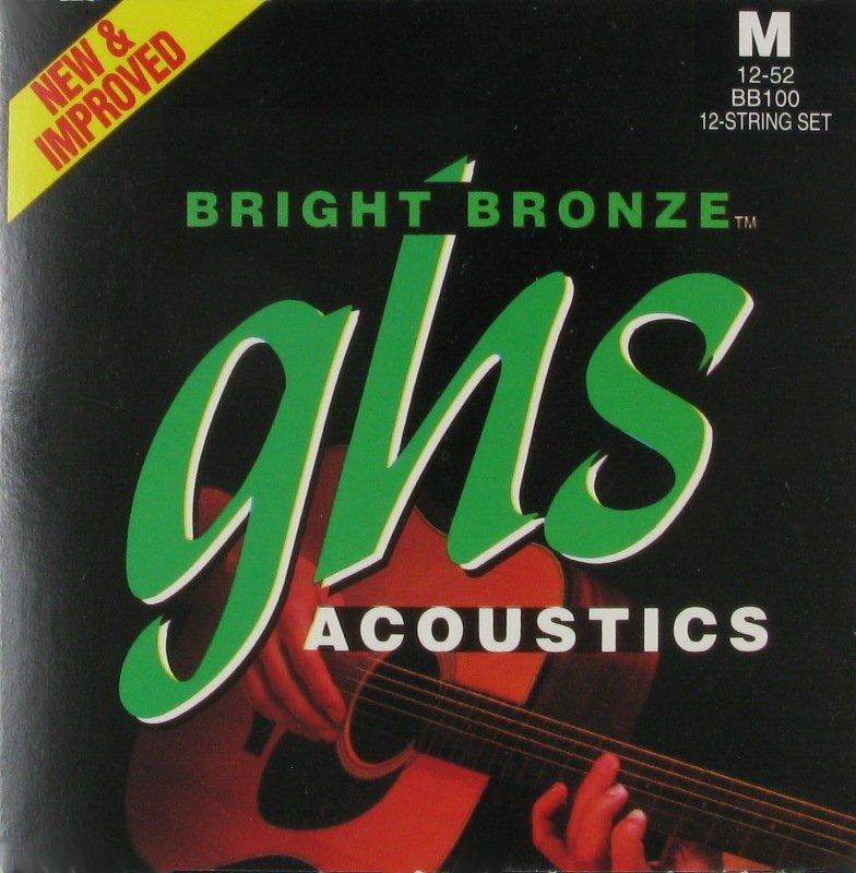 GHS Medium 80/20 Bronze 12 Strings, .012 - .052 BB100