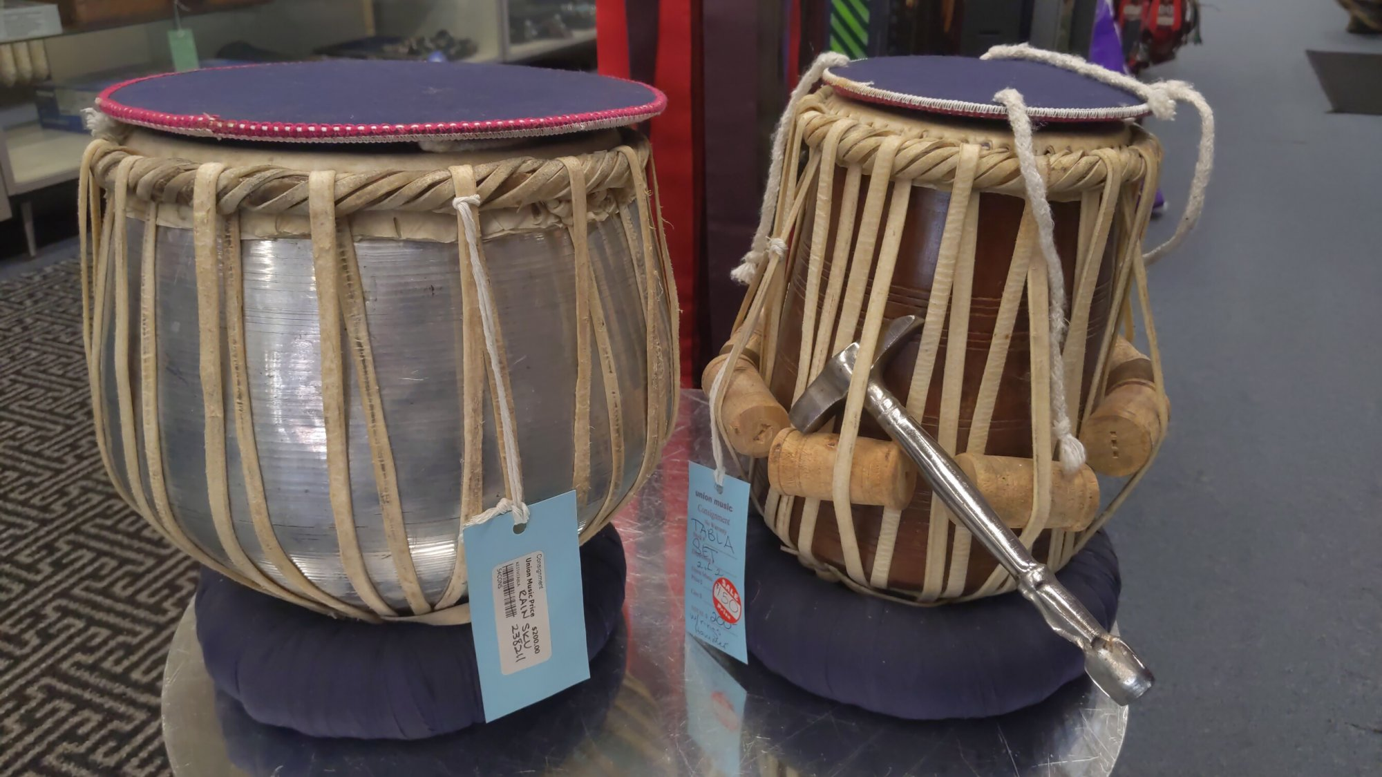 Used Indian Hand Drums