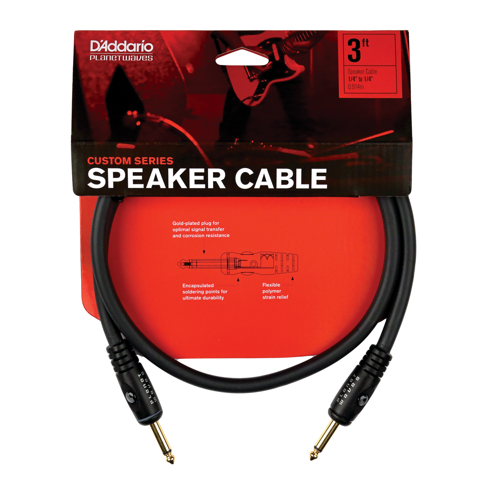 PW Speaker Cable 1/4 - 3 ft