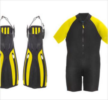 Wetsuit & Fins