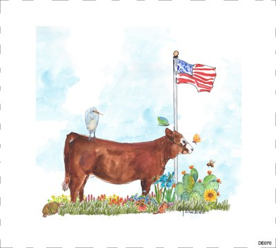 Cow AmFlag DE070