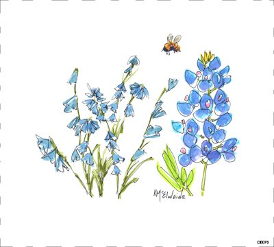 Flower Blue DE076