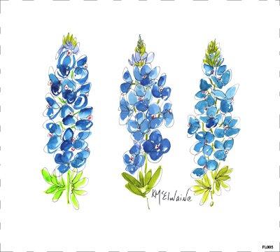 Flower Blue FL005