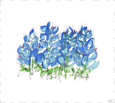 Flower Blue FL011