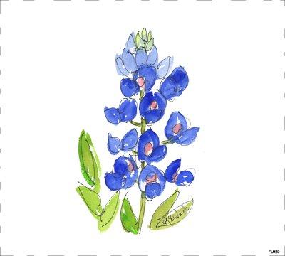 Flower Blue FL029