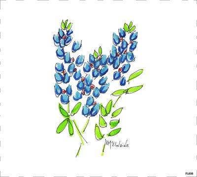 Flower Blue FL035