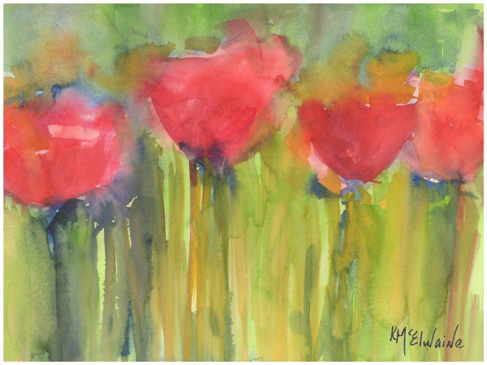 Red Poppy Elegance Fine Art Print