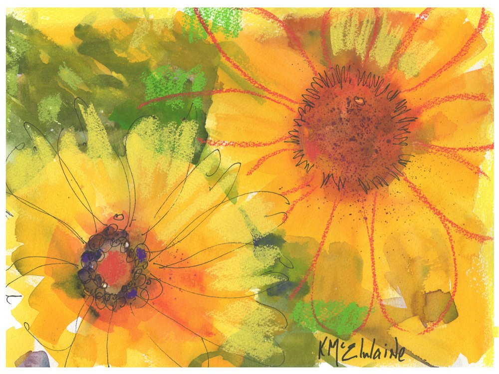 Big Sunflowers Fine Art Print on Paper