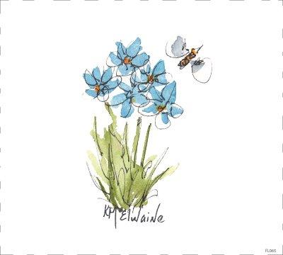 Flower Blue FL065