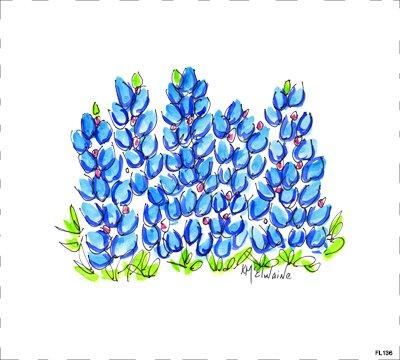 Flower Blue FL136