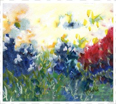 Flower Blue FL012