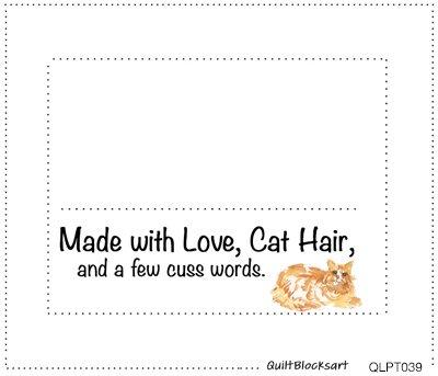 QLPT039 16 Quilt Labels