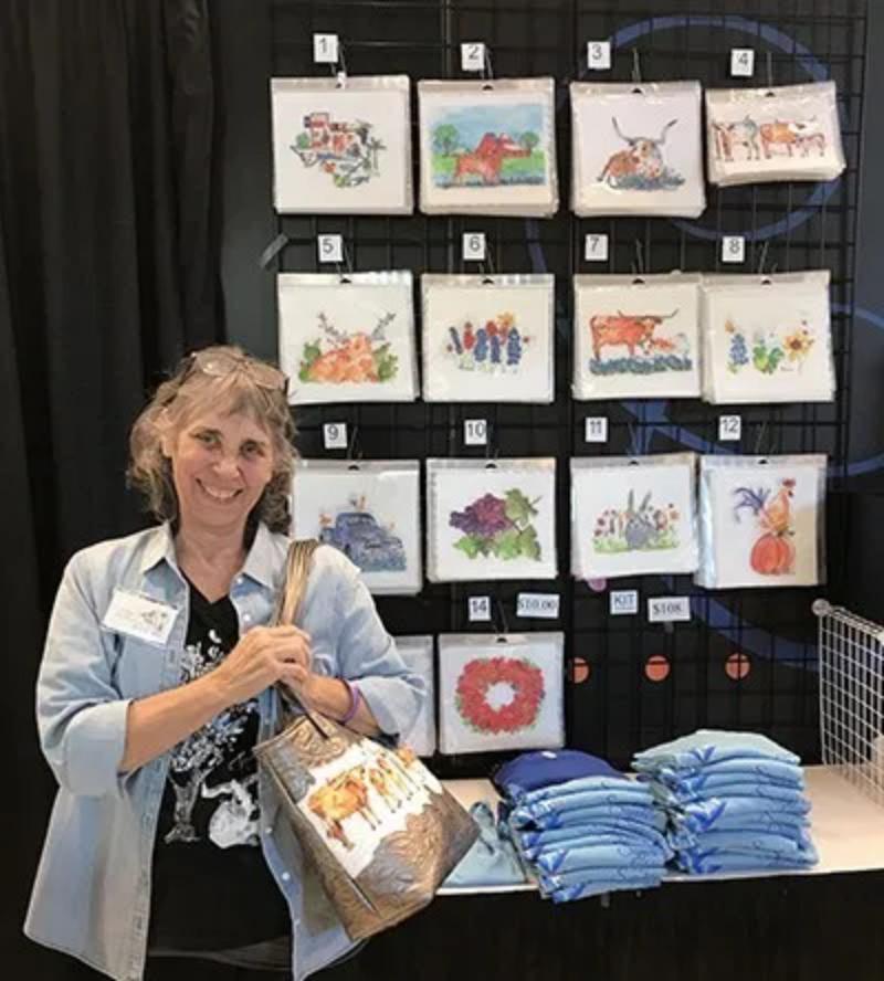 Kathleen McElwaine Display Quilt Block Art
