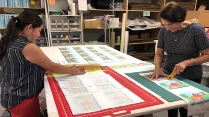 Cutting Quilt Block Art Texas Art