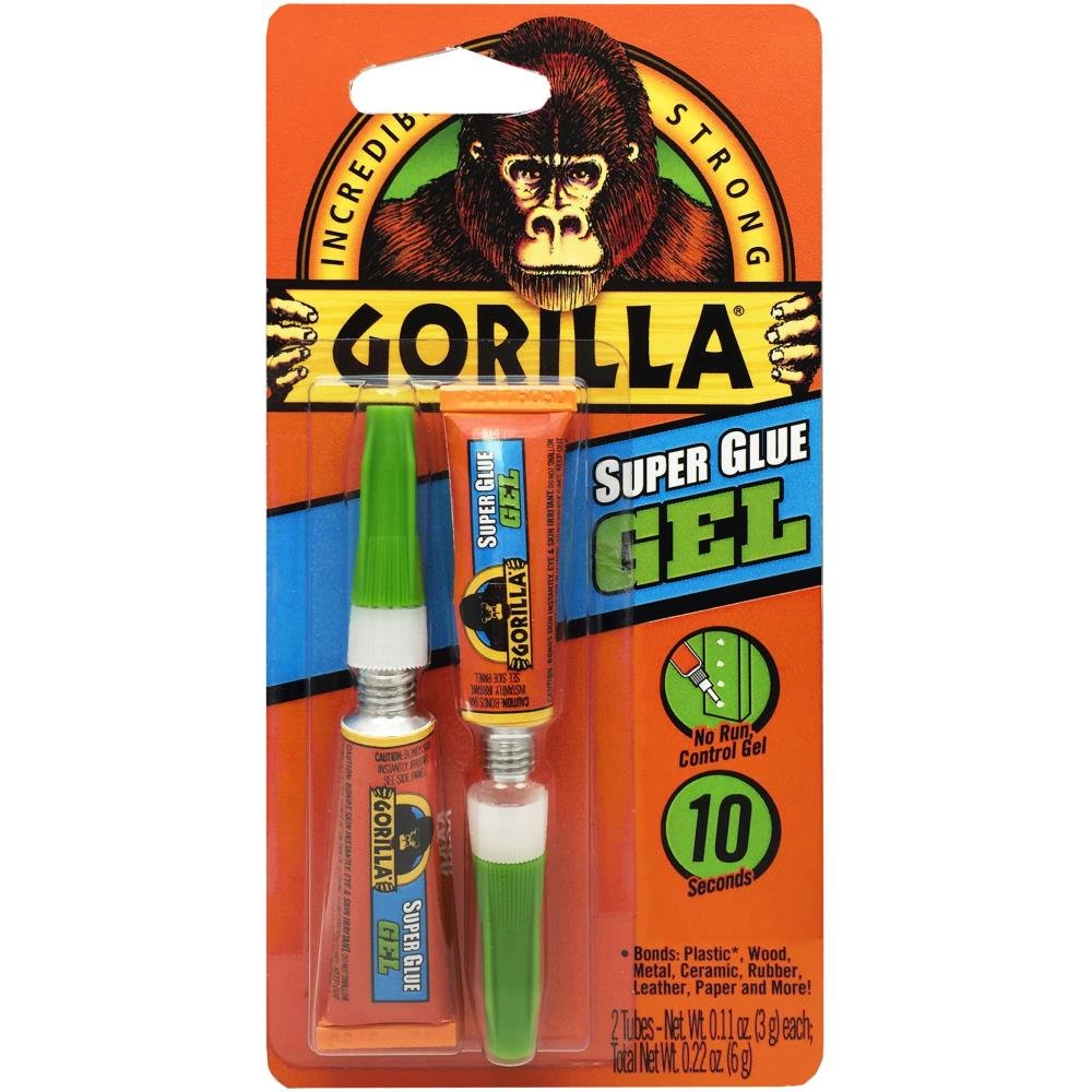 Gorilla Super Glue Gel Twin Pack-3g