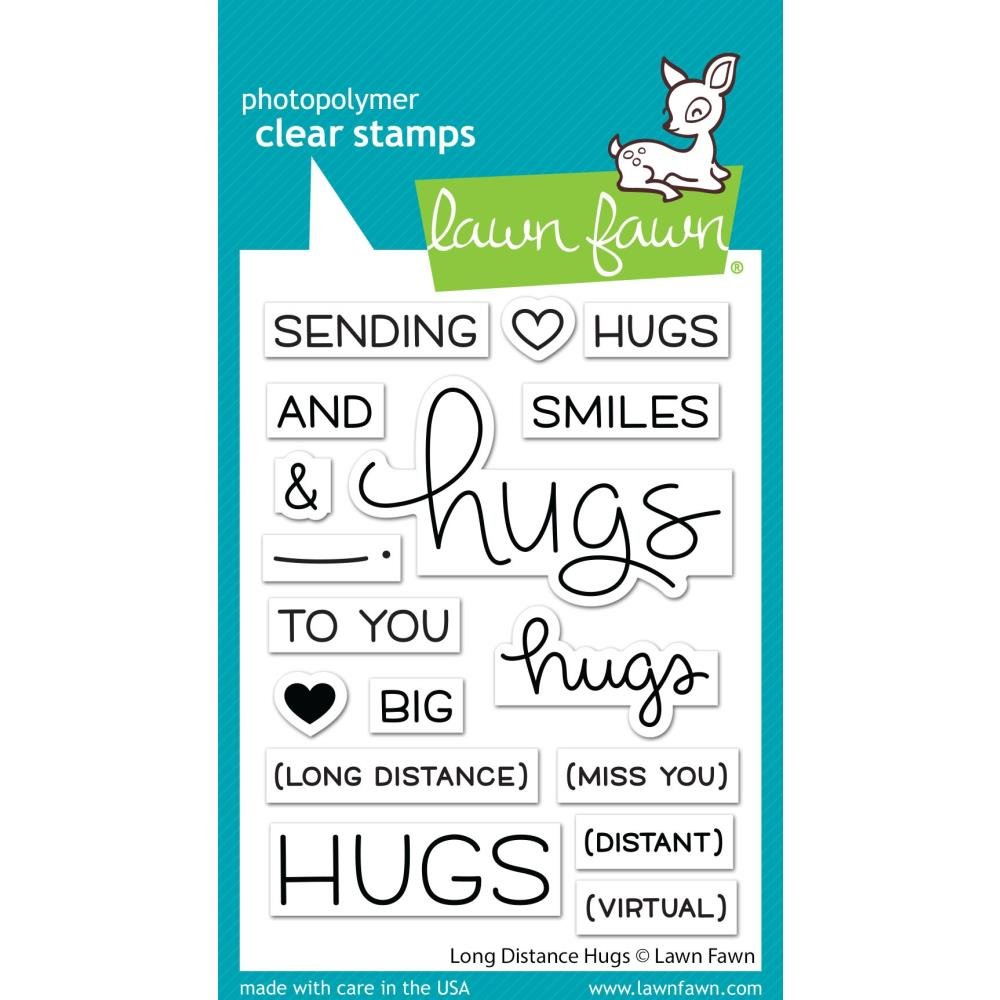 Lawn Fawn Clear Stamps 3X4-Long Distance Hugs