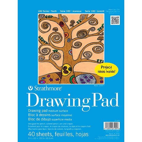 Strathmore Kids Drawing Paper Pads, 9 x 12