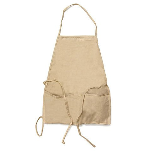 ADULT APRON COTTON BIB CUT