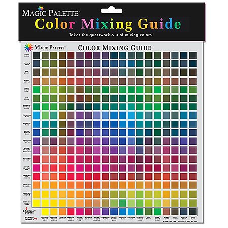 Magic Palette Color Mixing Guides, Personal Mixing Guide 11.5X11.5