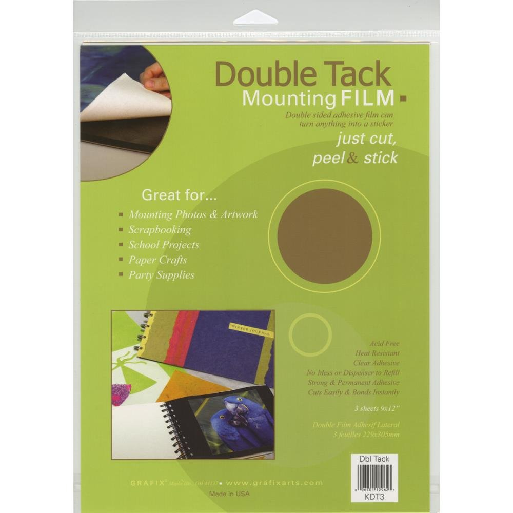 Double Tack Mounting Film-9X12 3/Pkg