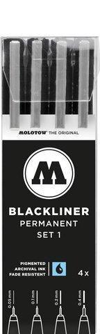 MOLOTOW BLACKLINER PERMANENT 4 PEN SET 2