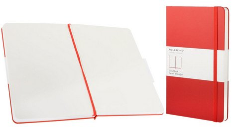 MOLESKINE ART COLLECTION SKETCH BOOK 5X8.25 RED